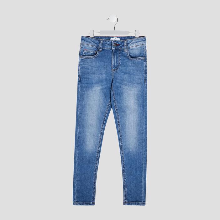 Jeans skinny effet usé garçon denim double stone