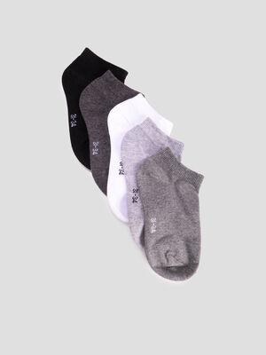 Lot 5 paires de chaussettes gris fille