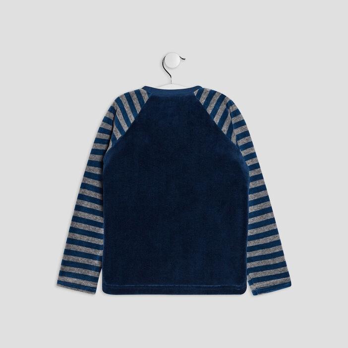 Ensemble de pyjama 2 pièces garçon bleu marine