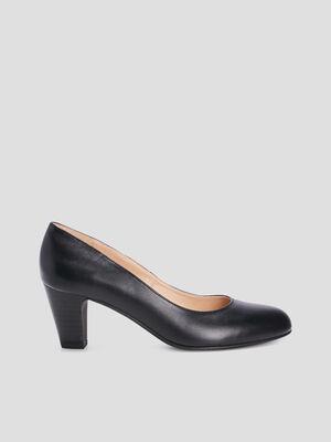 Escarpins en cuir noir femme