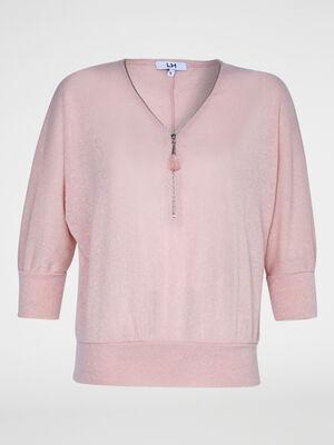 Pull rose femme