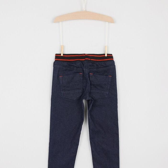 Jean coupe slim taille extensible garçon denim blue black