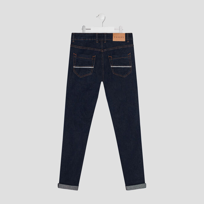 Jeans slim Creeks garçon denim brut