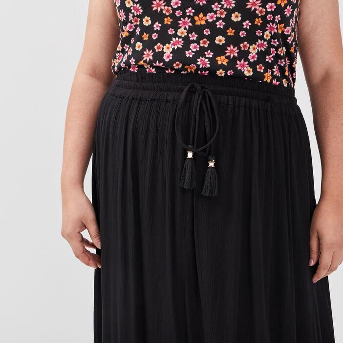 Jupe longue grande taille femme grande taille noir