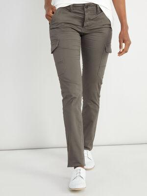 Pantalon cargo slim gris fonce homme