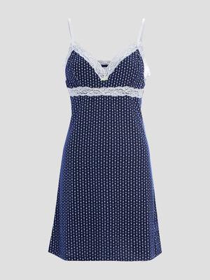 Nuisette imprimee Coco bleu marine femme