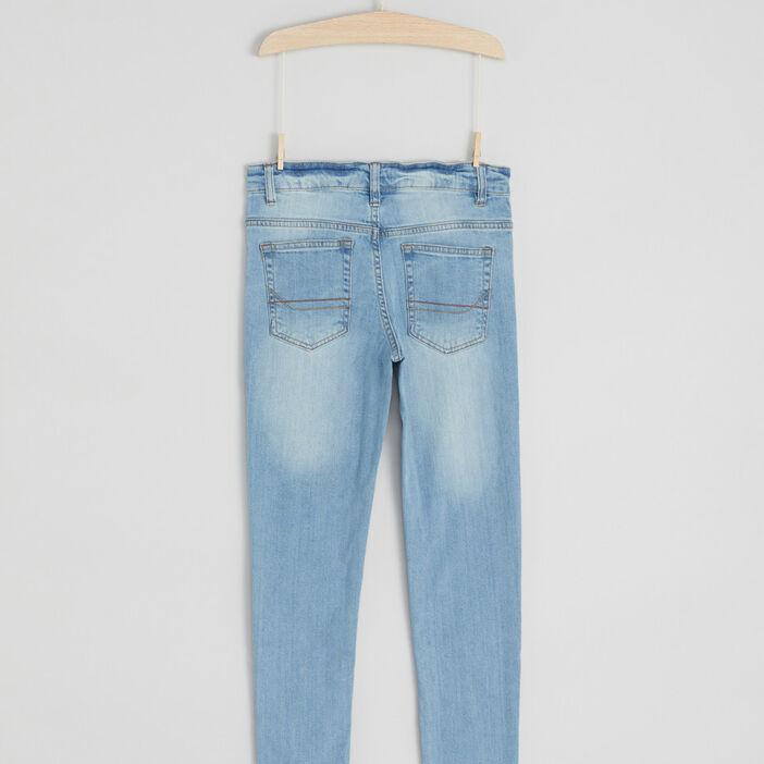 Jeans slim garçon denim double stone