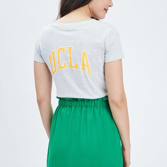 T-shirt manches courtes UCLA femme gris clair