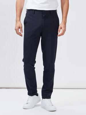 Pantalon droit bleu marine homme