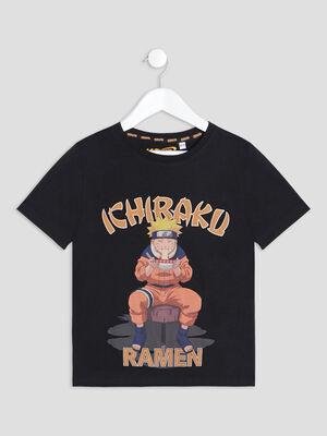 T shirt manches courtes Naruto noir garcon