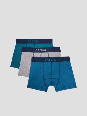 Lot 3 boxers multicolore homme