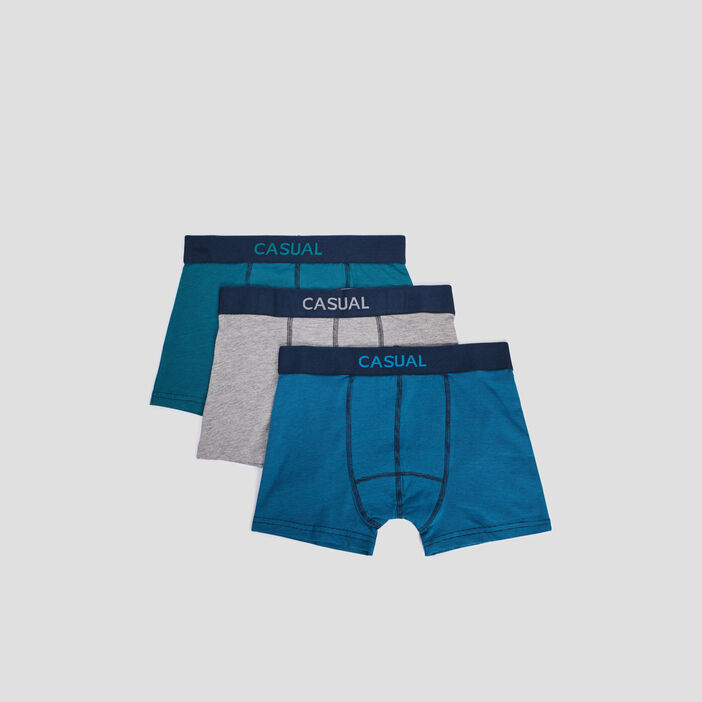 Lot 3 boxers homme multicolore