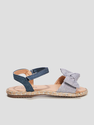 Sandales a noeuds Liberto bleu fille