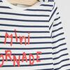 T shirt mariniere message place devant gris garcon
