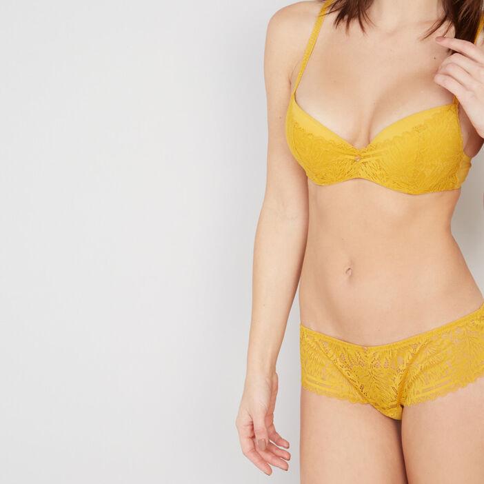 boxer LOUISE femme jaune moutarde