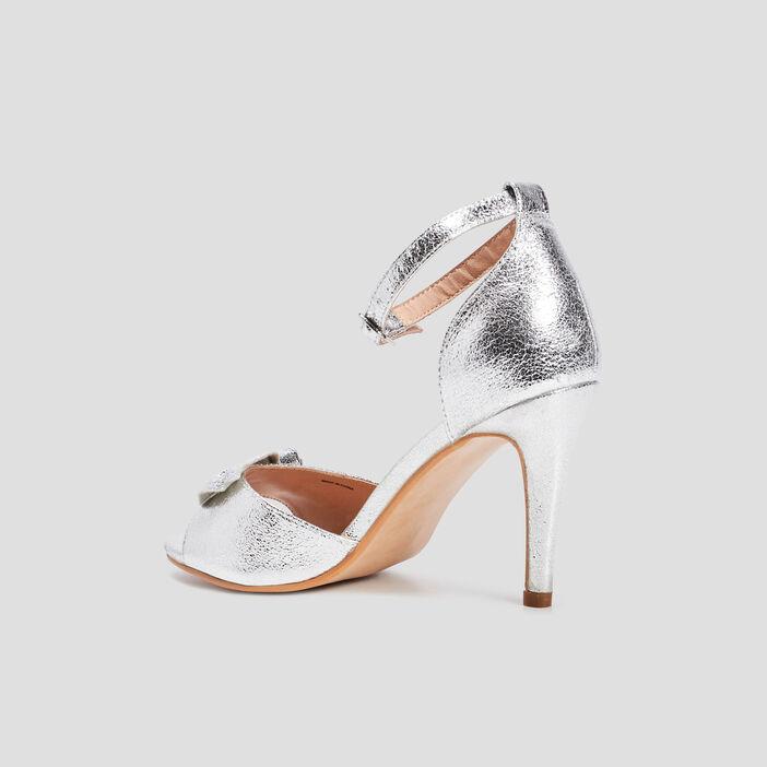 Sandales à talons femme couleur argent