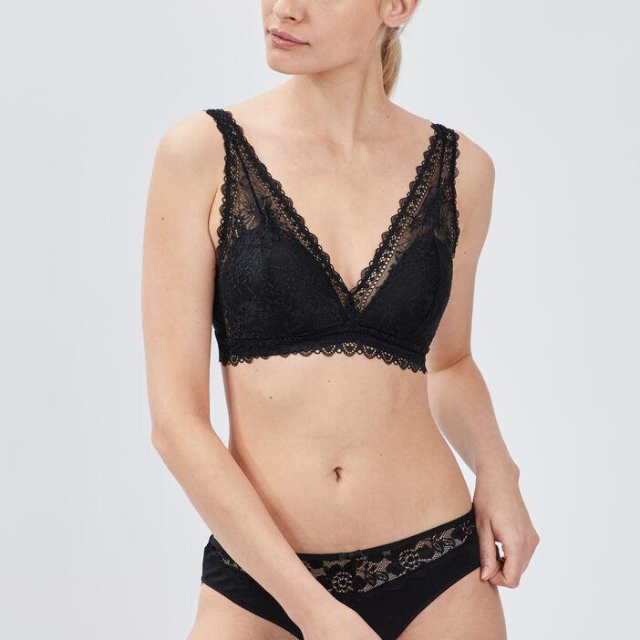Soutien-gorge triangle femme noir