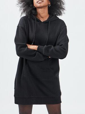 Robe sweat noir femme