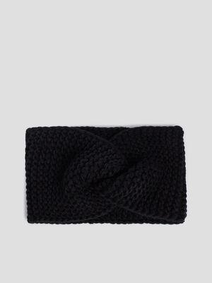 Bandeau tricote noir mixte