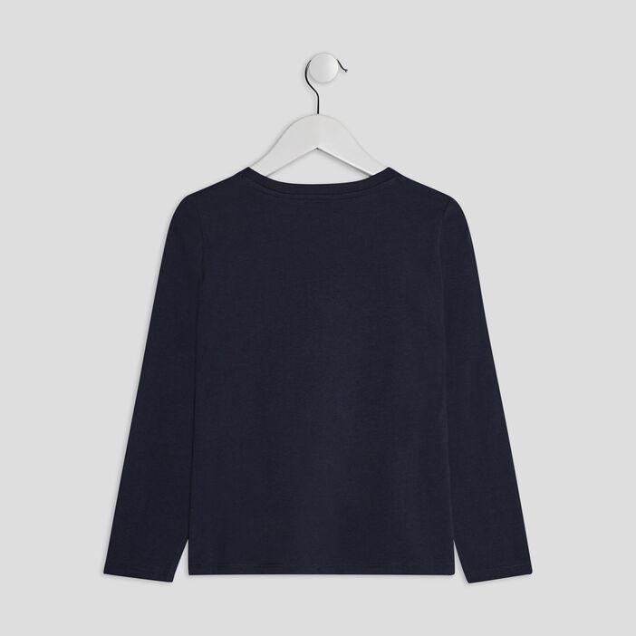T-shirt manches longues garçon bleu marine