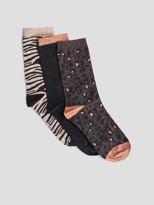 Chaussettes marron femme
