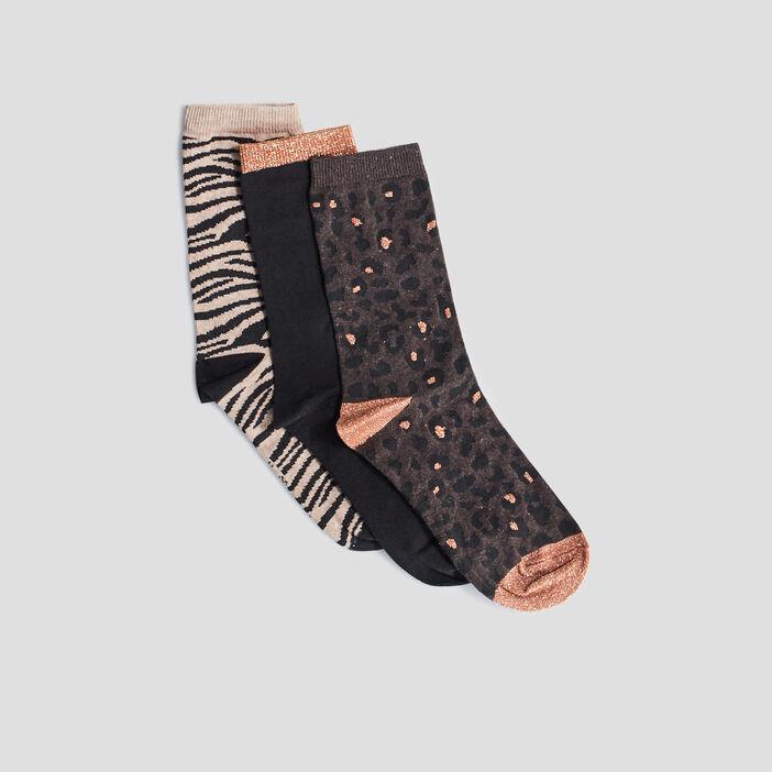 Chaussettes femme marron