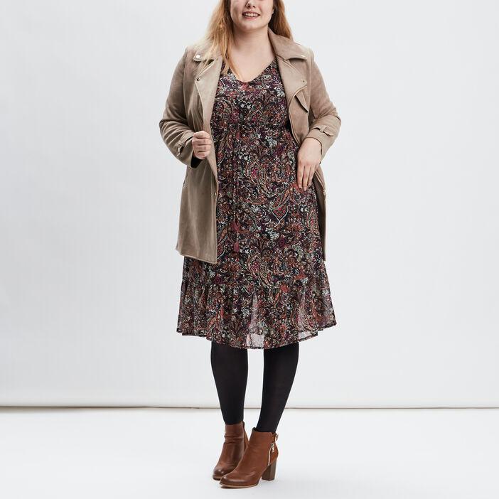 Robe évasée grande taille femme grande taille multicolore