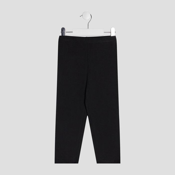 Pantalon legging 7/8ème fille noir
