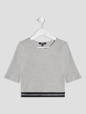 T shirt Liberto gris fille