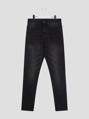 Jeans droit taille standard noir garcon