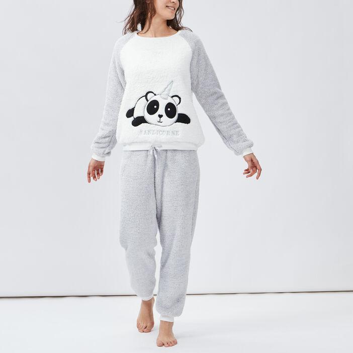 Ensemble pyjama femme gris clair