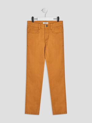 Pantalon skinny jaune moutarde garcon