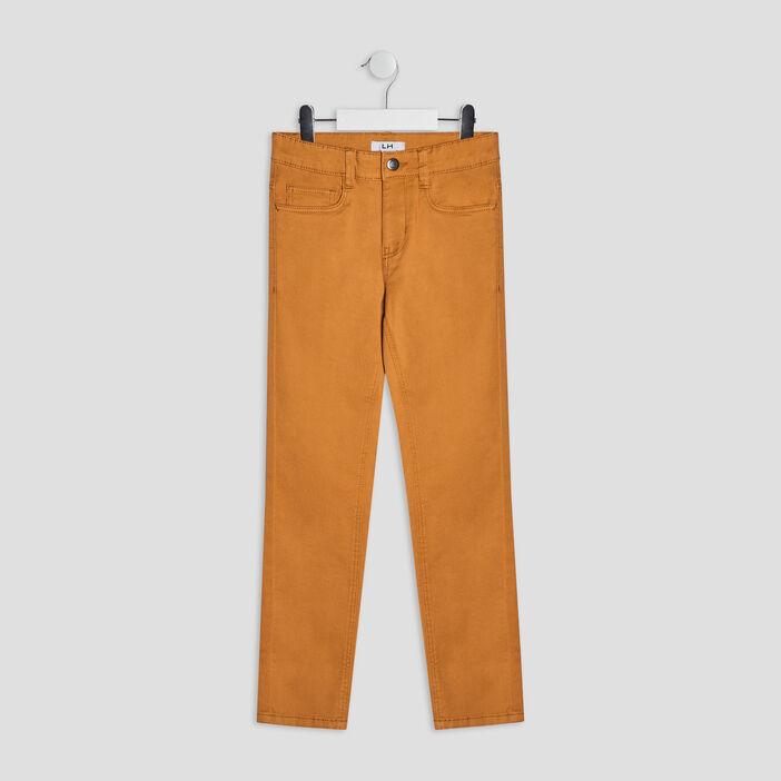 Pantalon skinny garçon jaune moutarde