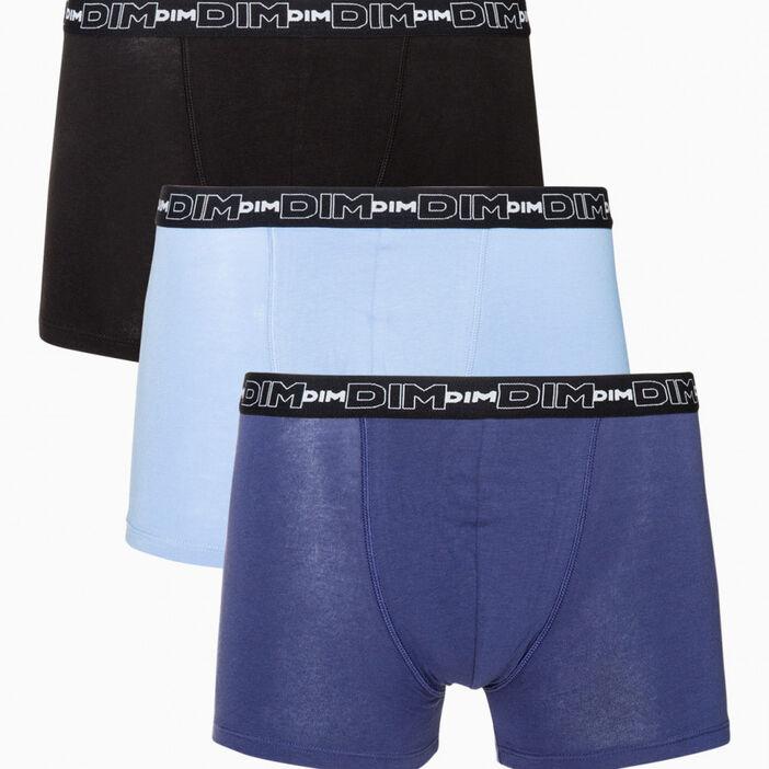 Lot 3 boxers DIM homme bleu