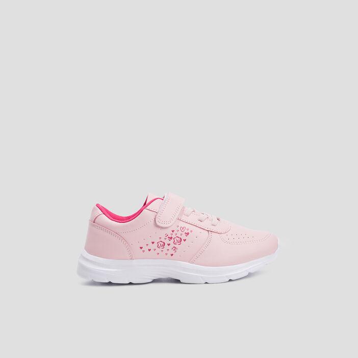 Baskets running fille rose