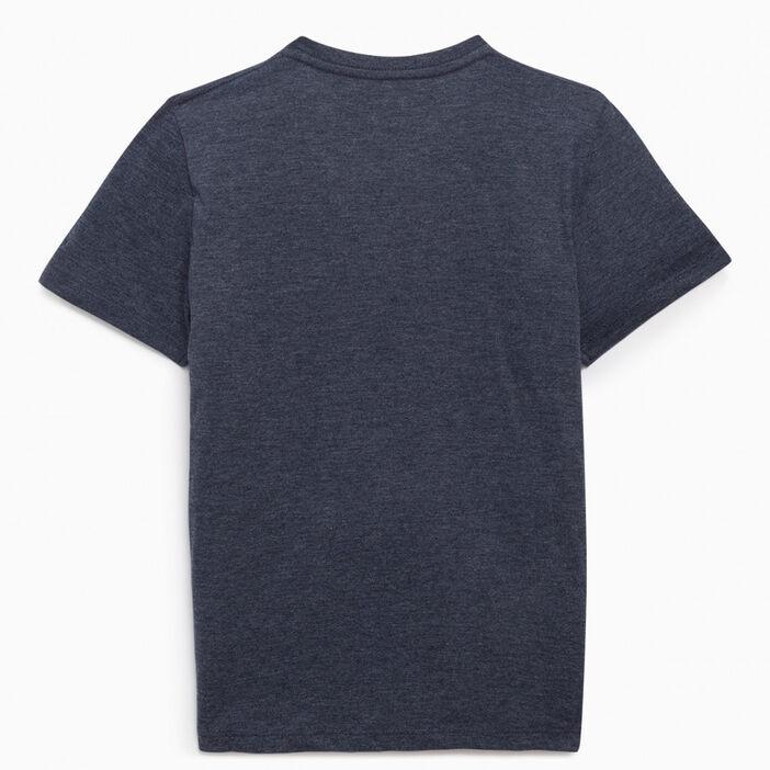 T-shirt avec col en V garçon bordeaux