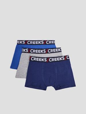 Lot 3 boxers Creeks bleu homme