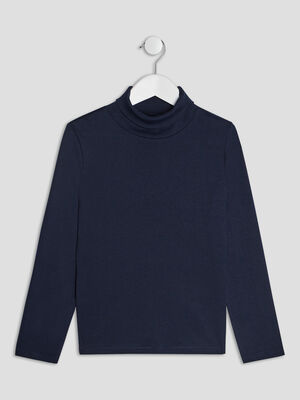 T shirt manches longues bleu marine garcon