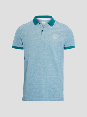 Polo manches courtes Creeks vert menthe homme