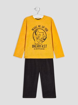 Ensemble pyjama Le Roi lion jaune moutarde garcon