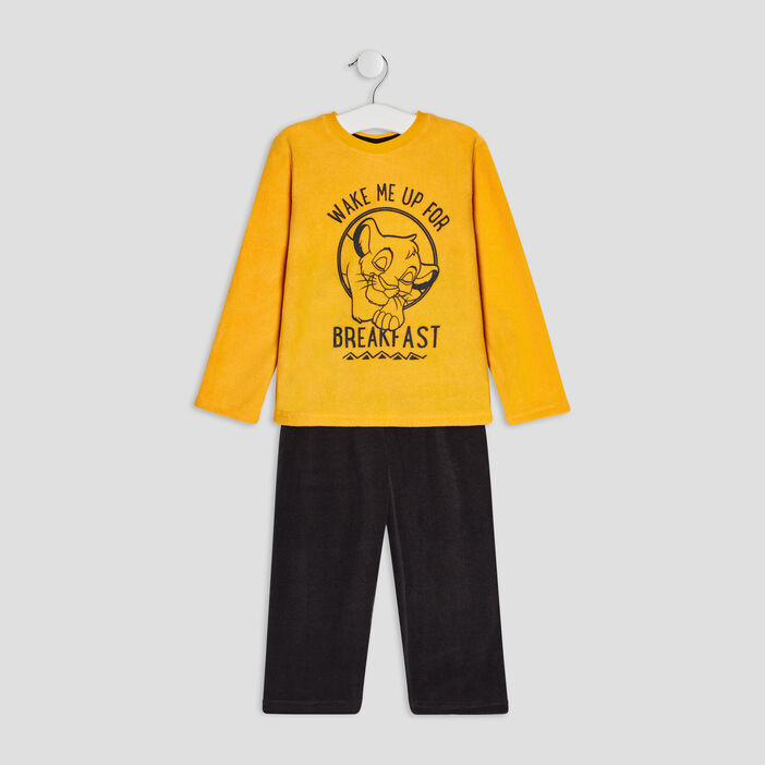 Ensemble pyjama Le Roi lion garçon jaune moutarde