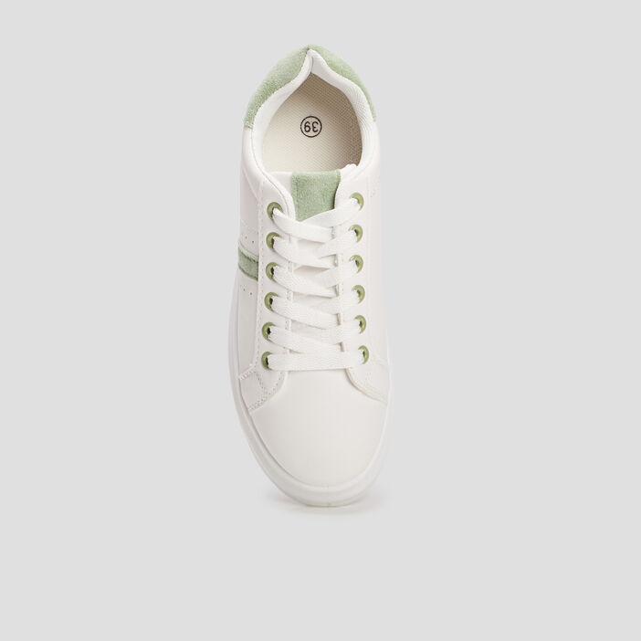 Tennis à lacets femme blanc