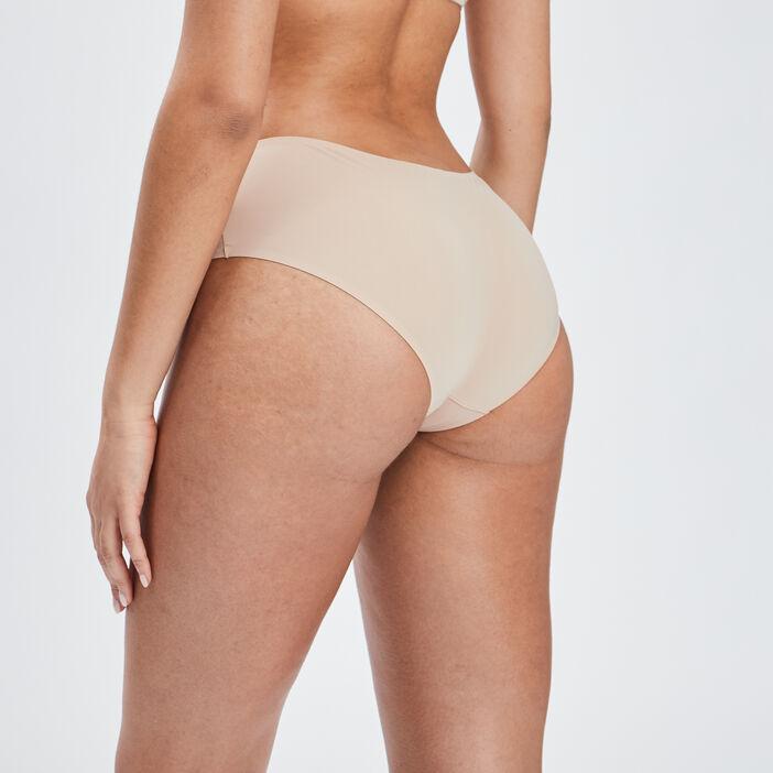 Culotte boxer microfibre femme beige