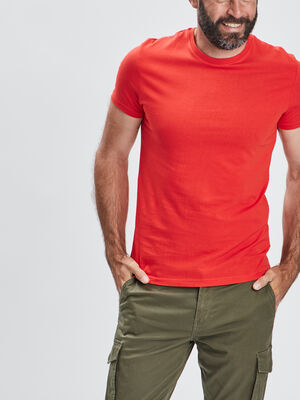 T shirt manches courtes rouge homme