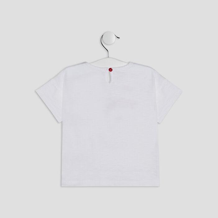 T-shirt Pat et Ripaton bébé fille blanc