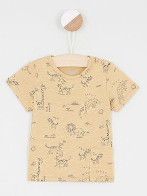 T Shirt Debardeur camel garcon