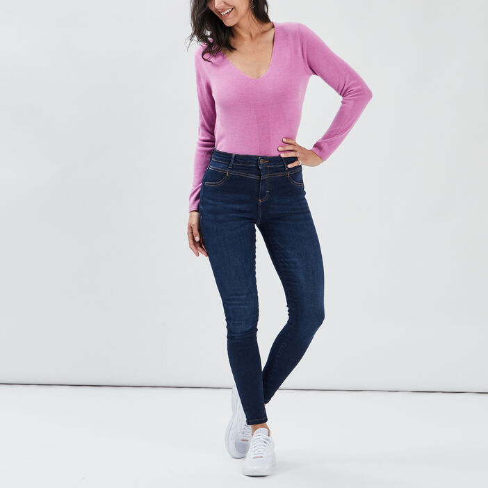 Pull manches longues femme violet