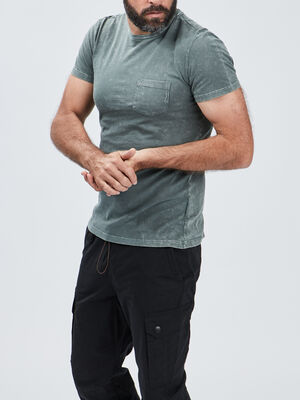 T shirt Liberto vert kaki homme