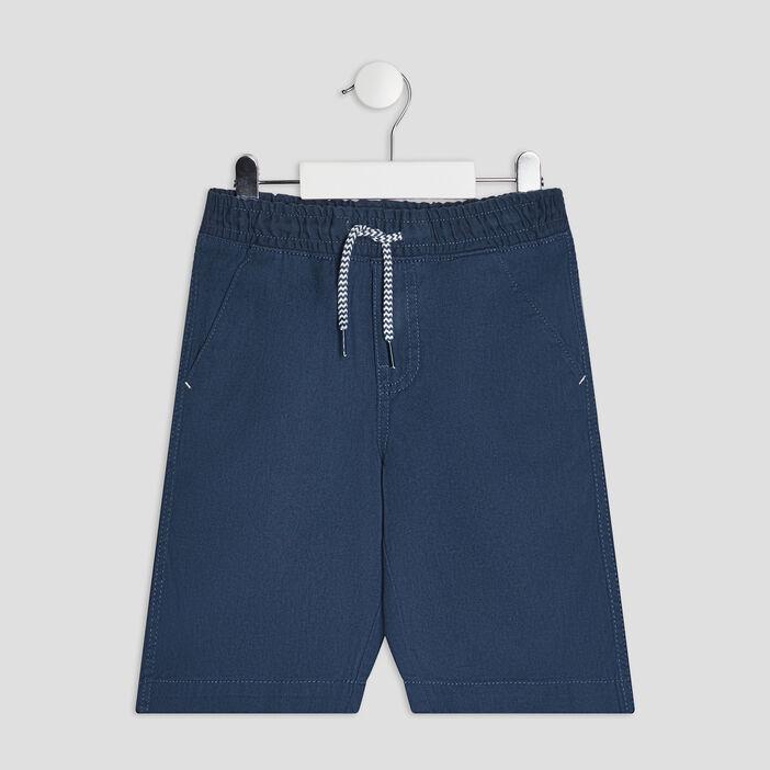 Bermuda droit garçon bleu marine