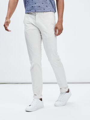 Pantalon straight ecru homme